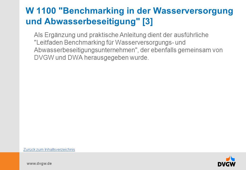 W 1100 Benchmarking in der Wasserversorgung und Abwasserbeseitigung [3]